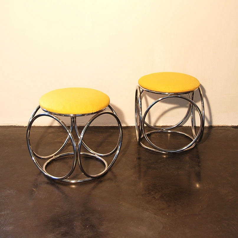 pair of stools vintage