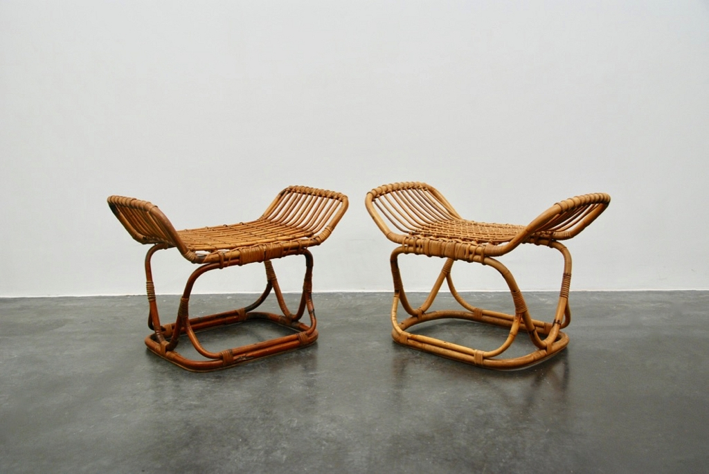 Ratan pair of stools