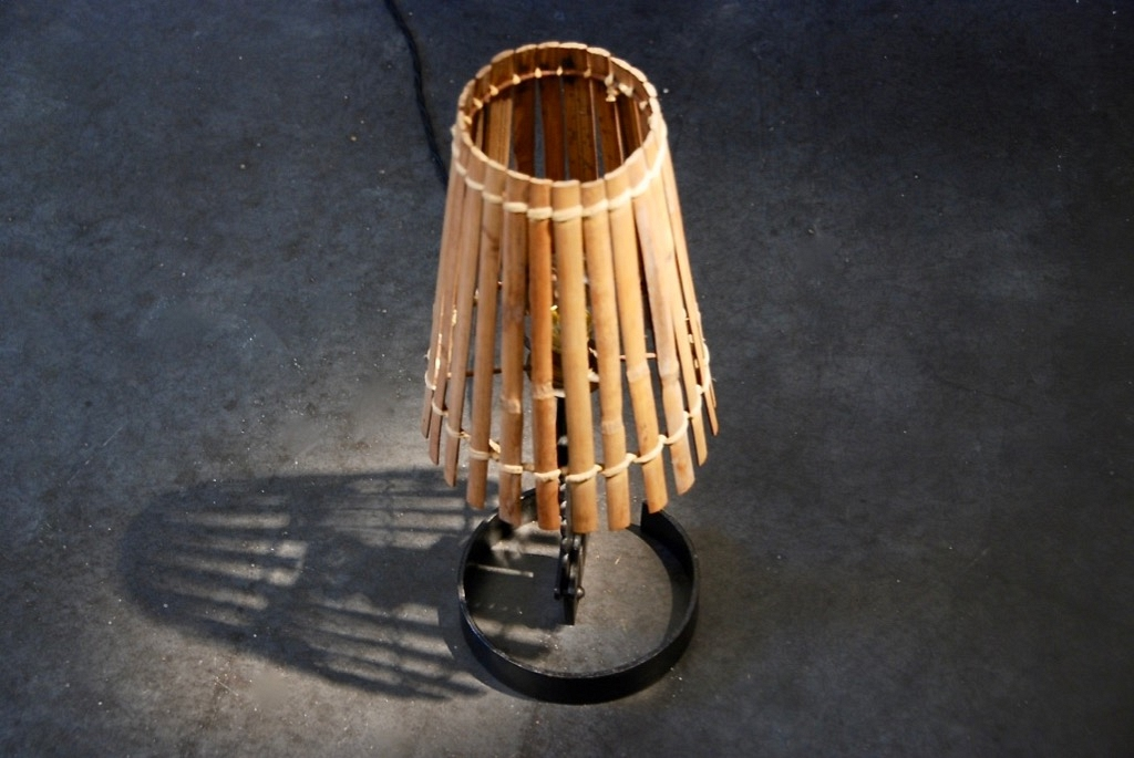 Table lamp in rotan (nr1)