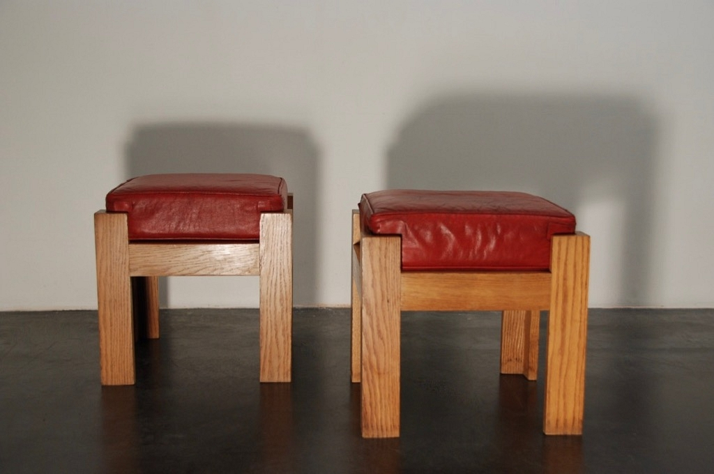 Pair of oak Stools