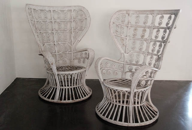 Pair of rotan Armchairs
