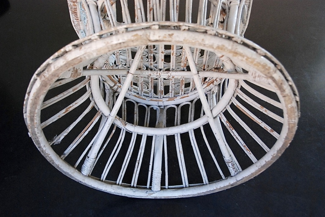 Pair of Rotan white seats