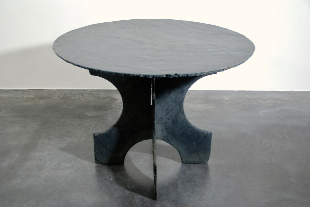 round table in slate