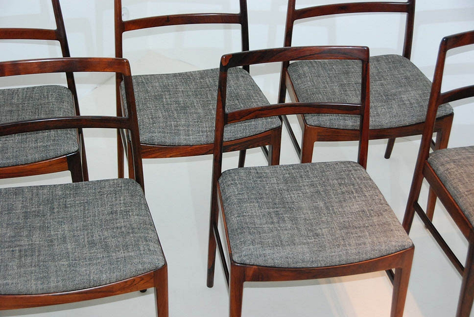 ARNE VODDER Sets of 6 chairs