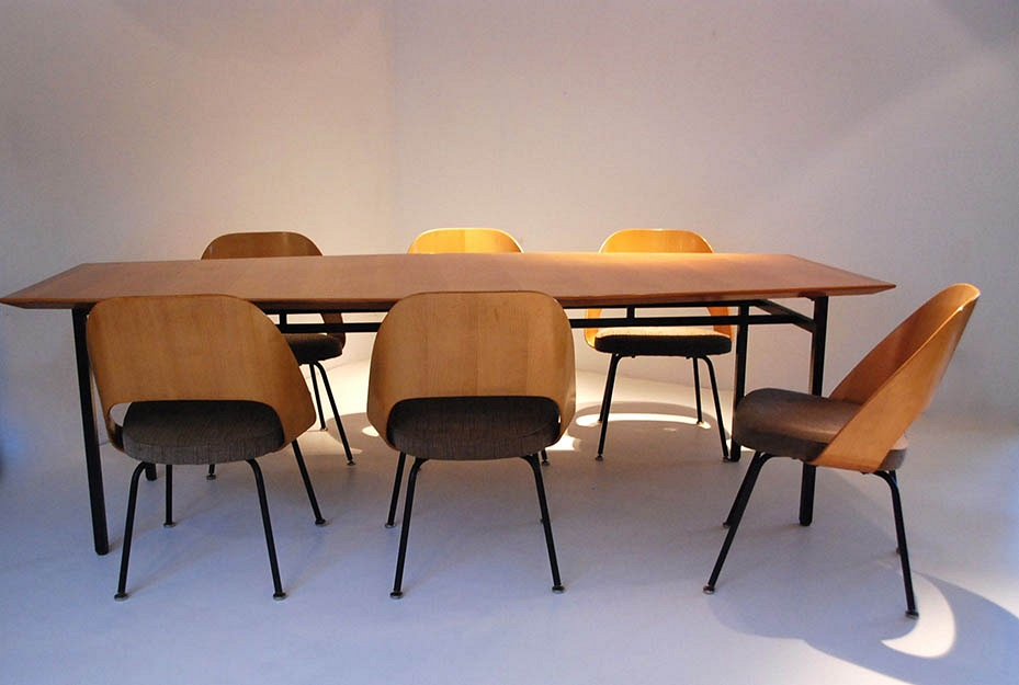 FLORENCE KNOLL TABLE & CHAIRS